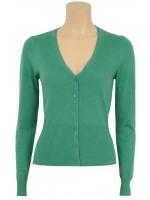 Groen mellee vest met kanten randje van het hippe merk King Louie.   Het vest is gemaakt van 70% katoen, 20% modal, 10% zijde.