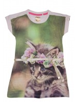 Stones & Bones jurk Kitten pink