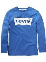 Kobaltblauwe longsleeve met wit logo van het merk Levi's.