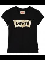 Levi's t-shirt black met goud logo (girl)