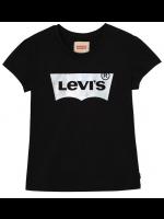 Levi's t-shirt black met zilver logo (girl)