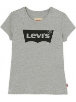 Levi's t-shirt Gris Chine logo (girl)