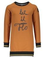 Cognac sweat tuniek met glittertje in de boorden van het merk Like Flo.