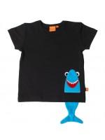 Lipfish t-shirt haai zwart