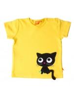 Lipfish t-shirt kat geel