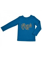 Baba-Babywear longsleeve donkerblauw met eekhoorn