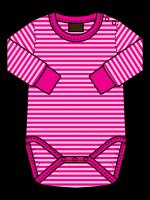 Maxomorra romper streep roze/fuchsia