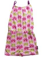 Maxomorra jumpsuit met spaghettibandjes kikker roze