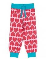 Maxomorra sweatpants hearts roze