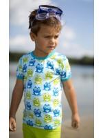 Maxomorra t-shirt kikkers blauw