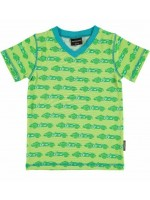 Maxomorra t-shirt v-neck cars green