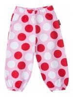 Roze sweat pants met polkadots van het Zweedse merk Maxomorra.   De broek is gemaakt van GOTS gecertificeerd katoen.
