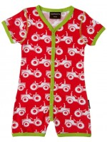Maxomorra jumpsuit zomer tractor rood