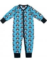 Maxomorra jumpsuit pinguïns blauw
