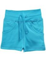 Hippe turquoise short met zakken van het Zweedse merk Maxomorra. De short is gemaakt van sweatstof.   De kinderkleding van Maxomorra is gemaakt van GOTS-gecertifceerd biologisch katoen.