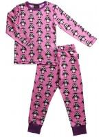 Maxomorra pyjama pinguïns roze