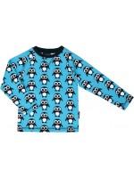 Maxomorra sweater pinguïns blauw