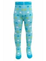 Hippe turquoise maillot met sterren van het Deense merk Melton.   De maillot is gemaakt van 80% katoen, 15% polyamide en 5% elastane.