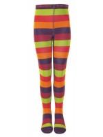 Hippe maillot met brede strepen in groen, paars, roze en oranje van het Deense merk Melton.
