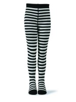 Melton maillot streep zwart-wit