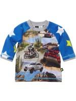 Hippe longsleeve Parijs-Dakar met fotoprint van het Deense merk Molo.   Elk shirt is anders omdat de stof verspringt bij elk shirt.
