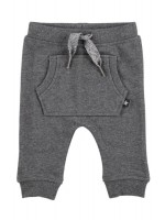Molo soft pants dark grey melange Sabella