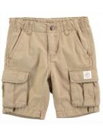 Zandkleurige short met zakken aan de zijkant van het Deense merk Molo.