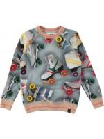 Jeanslook sweater met roller skates van het merk Molo..