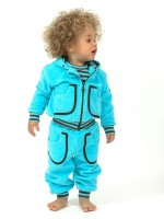 Moonkids hoodie terry light turquoise