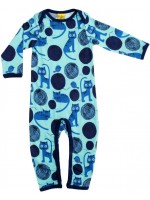 More Than a Fling jumpsuit cats blauw