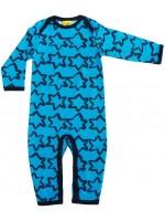 Blauwe jumpsuit met navy sterren van het merk More Than a Fling.