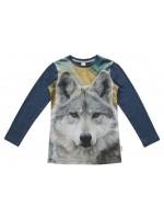 Wild Longsleeve Navy Grey Wolf