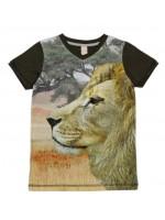 T-shirt met leeuw van het hippe Nederlandse merk Wild.  Het shirt is gemaakt van Oekotex gecertificeerd katoen.