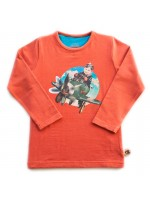 Oteez longsleeve Airplane rusty orange