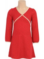 Gave rode cup dress met stippen van het Nederlandse merk Petit Louie.