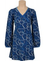 Petit Louie jurk Cup dress Symmetry storm blue