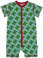 Maxomorra jumpsuit s/s cactus