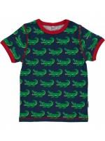 Maxomorra t-shirt crocodile blue
