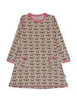 Maxomorra dress l/s fawn