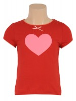 Petit Louie t-shirt Heart red