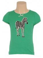 Petit Louie t-shirt zebra Island Green