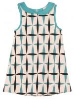 Mouwloze jurk met retroprint van het merk Petit Louie.