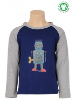 Petit Louie longsleeve Robot royal blue
