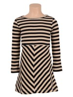 Petit Louie Skater dress rib stripe black