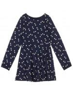 Blauwe jurk met witte sterren van het merk Petit Louie.