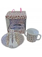 Powell Craft Melamine Tableware Garden Fairy Set 1