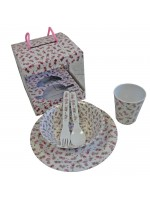 Powell Craft Melamine Tableware Garden Fairy Set 2
