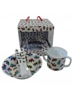Powell Craft Melamine Tableware Tractor Set 1