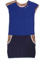 Waaaw jurk pockets Kobalt