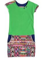 Waaaw jurk pockets Groen